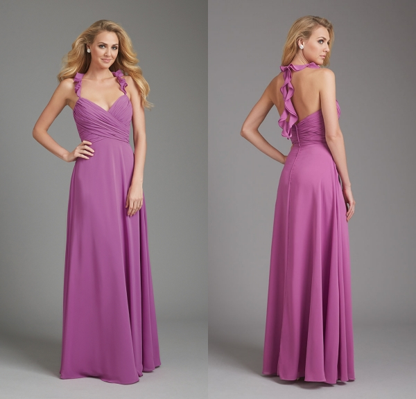 bridesmaid dresses in wild orchid high cut wedding dresses