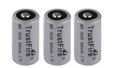 10pcs/lot High Capacity Trustfire IMR 18350 800mAh 3.7V Li-ion Battery Rechargeable Batteries For e-cigarette