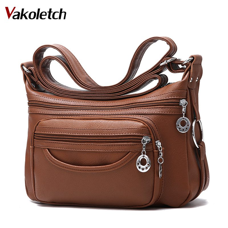 2018 Brand Leather Shoulder Bags Tote Bag crossbody bags for women Luxury Women Messenger Bags Designer Woman Handbag KL283 стоимость