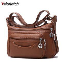 2018 Brand Leather Shoulder Bags Tote Bag crossbody bags for women Luxury Women Messenger Bags Designer Woman Handbag KL283