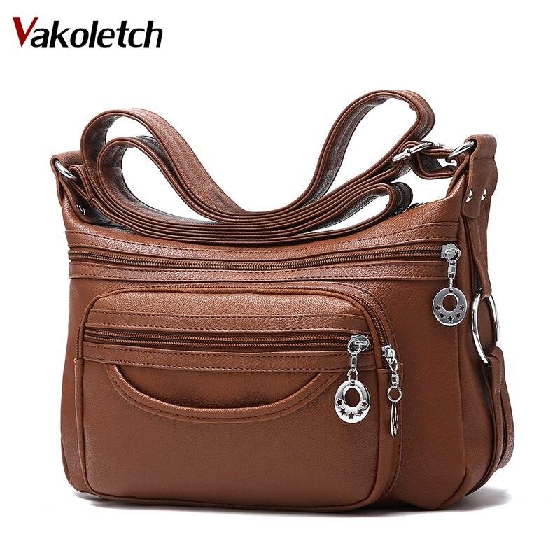 2018 marca bolsos de cuero bolso de mano crossbody bolsos para las mujeres de lujo mujeres Messenger bolsos diseñador mujer bolso KL283