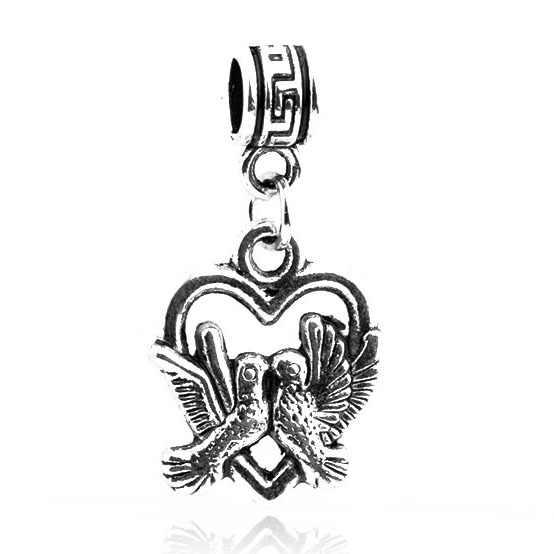 Панк маленькие тибетские Подвески серебряного цвета бусины крылья оболочки якорь листья кулон бусины подходят оригинальные Pandora Браслеты для женщин DIY