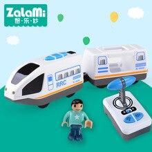 Пульт дистанционного управления RRC поезд набор локомотив телеуправляемый высокоскоростной поезд для деревянных железных дорог игрушки