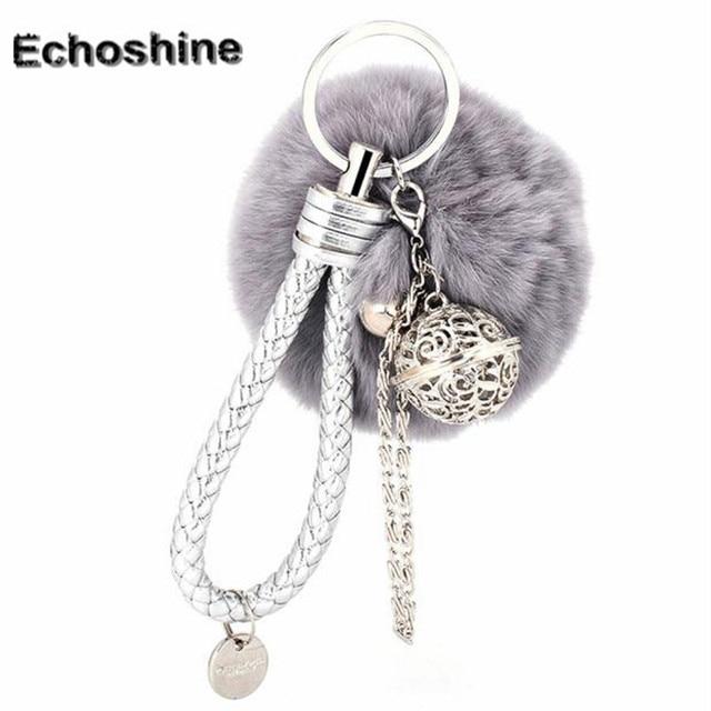 Charm Women Bag Accessories cute Artificial Rabbit Fur handbag pendant  fashion bags gift wholesale B05 96e44bc98f
