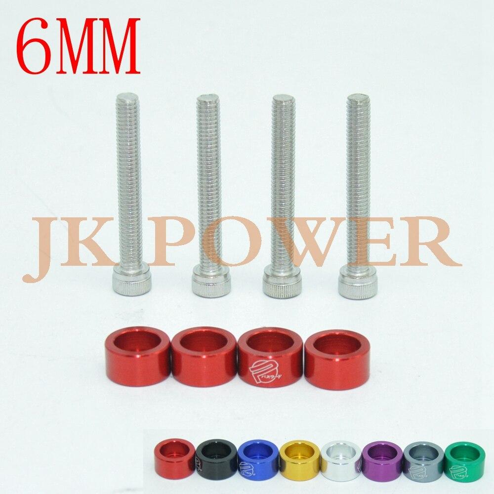 Blue Aluminum 8MM JDM 9pcs Metric Header Cup Washers Kit Fedner Washer