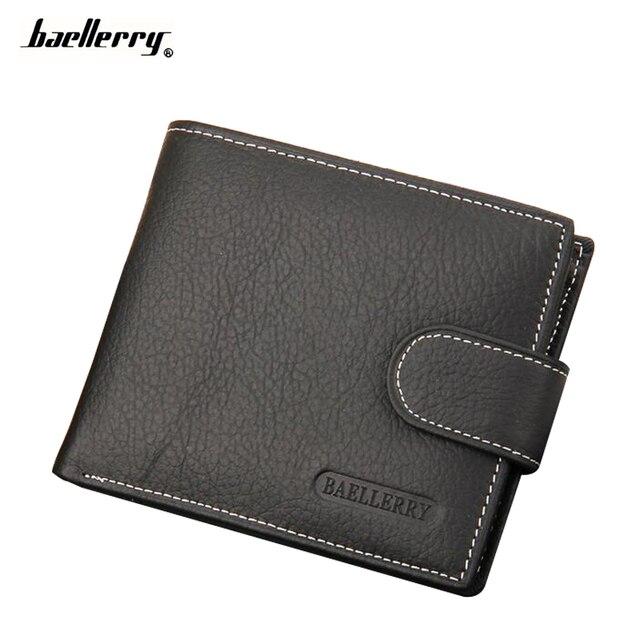 df213919a Carteira Bolso de Moedas de Couro Titular do Cartão de Crédito Dos Homens  de Couro Genuíno