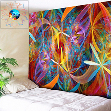 Colored Abstract Floral Mandala Tapestry Wall Hanging Boho Hippie Bohemian Art Psychedelic Tapestries Cloth Yoga Beach Throw Rug bohemian floral antiskid bath rug