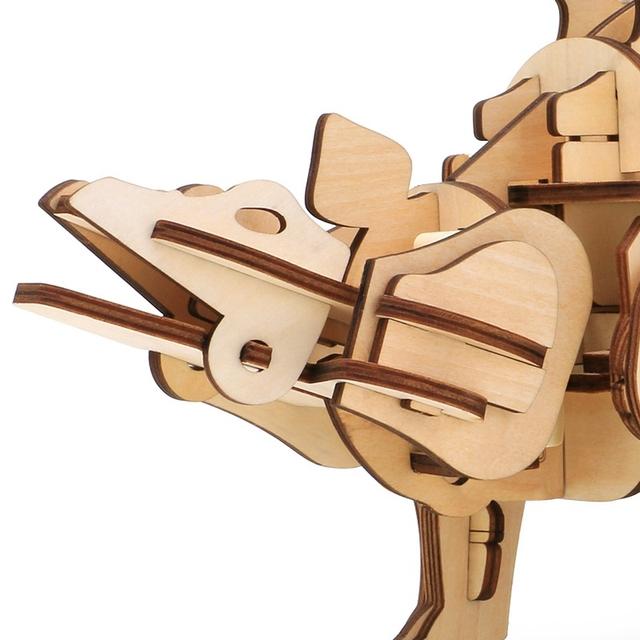 Puzzle Interactif Dinosaure Stegosaurus 3D DIYEn Bois Jouet pour Enfants et Adultes