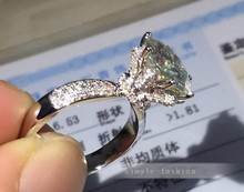 Topaz Fashion Ring 3ct Simulated Diamond Cz 925 Sterling Silver Women