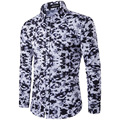 Men Shirt  2017 Male Long Sleeve Shirts Camouflage Slim Fit Shirts High Quality Men Clothing Soft Comfortable