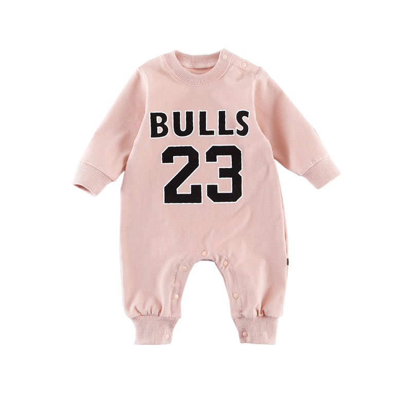 Infant Baby Sports Romper Cotton Newborn Baby Boys Basketball Clothes High Quality Kids Boys Girl Letter Print Infantil Overalls