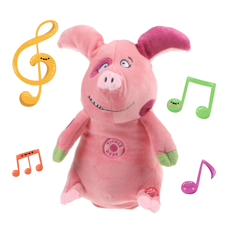 Cute Electric Talking Pig Sound Piggy Music Interactive Toy Stuffed Pink Pig Plush Doll Baby Toys 26cm