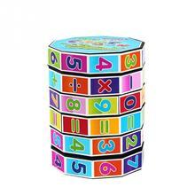Learning Education Mathematics Digital Cylindrical magic Cube Intelligence Arithmetic Cube Toys for Kids