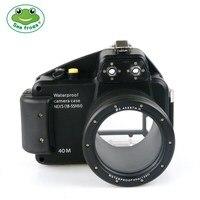 Дайвинг подводная 40 м съемки чехол для sony NEX5 фирменнй переходник для объектива Canon 18 55 мм Камера Водонепроницаемый Корпус крышка Камера сумк