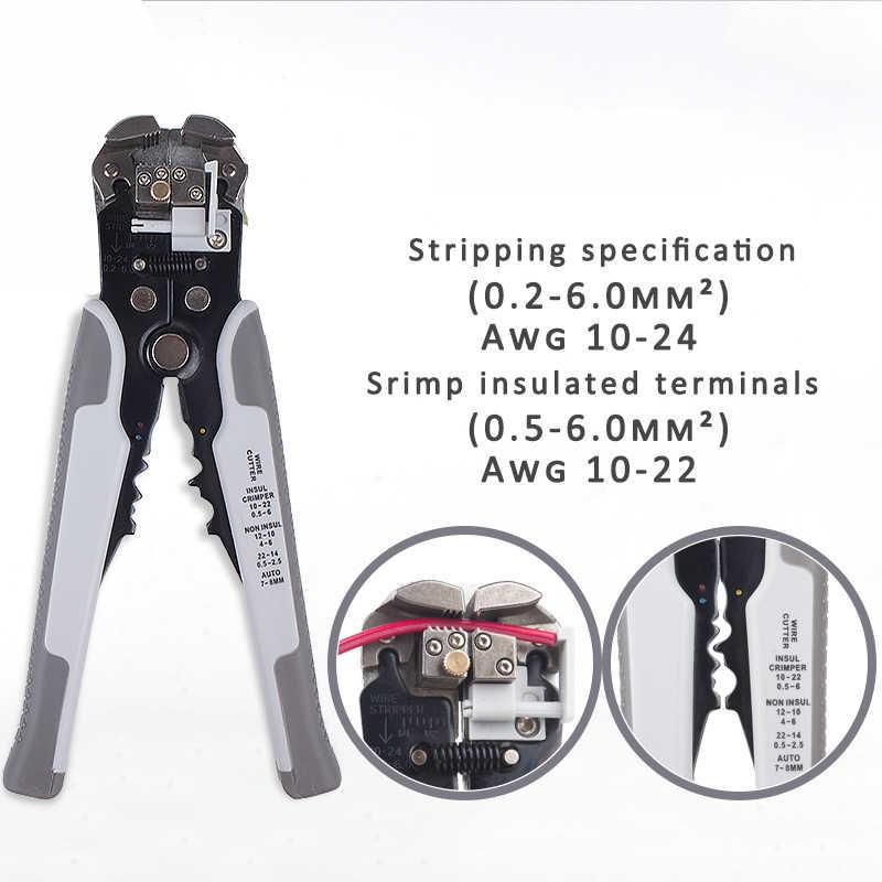 Kuaiququ Crimper Kabel Cutter Automatische Draad Stripper Multifunctionele Strippen Gereedschap Krimptang Terminal 0.2-6.5mm KQ1301