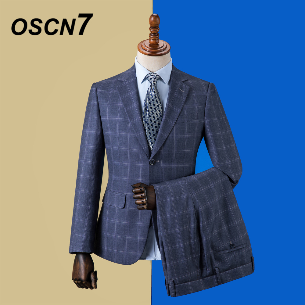 Suits & Blazers Men's Clothing Dynamic Oscn7 2019 Plaid Custom Made Suits Men Slim Fit Wedding Party Mens Tailor Made Suit Fashion 3 Piece Blazer Pants Vest Zm-575 In Many Styles