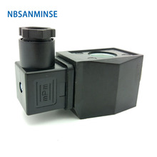 Pneumatic Control Air Electrical Solenoid Valve Coil DC12V DC24V AC110V AC220V For 2W - 15 / 20 25 Brass Sanmin
