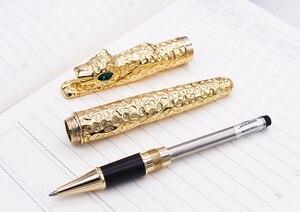 Image 5 - החדש Jinhao ברדלס מלא מתכת זהב Rollerball עט לוקסוס מעודן מתקדם כתיבה מתנה עט עבור עסקים בוגר משרד