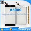 "5.0""inch For Lenovo A5000 5000 Touch Screen Digitizer Panel with logo Ship with track 3M Sticker Free"