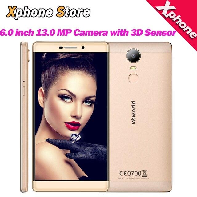 Original 6.0 inch Phone VKworld T1 Plus Kratos Android 6.0 RAM 2GB ROM 16GB 4G LTE MTK6735 Quad Core with 3D sensor Mobile Phone