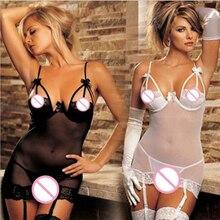 2016 New Sexy Lingerie Hot Steel Prop Bra Sex Underwear Transparent Erotic Pajamas Lace Women Sleepwear Teddy Intimates Chemise