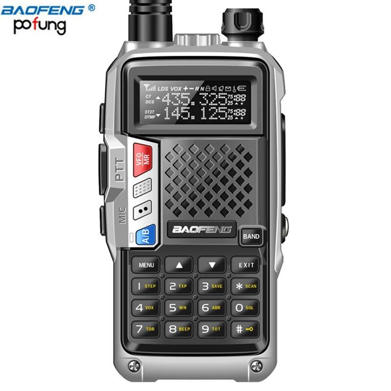 2018 New BAOFENG BF-UVB3 PIÙ 8 W Ad Alta Potenza UHF/VHF Dual Band 10 KM Long Range Walkie Talkie 3800 mAh Caricatore del USB Della Batteria + auricolare