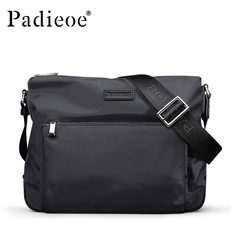 Padieoe Fashion Nylon Men Bag Casual Waterproof Crossbody Male Shoulder Messenger Bags Brand swisswin fashion brand men shoulder bag small black messenger daily phone bag quality waterproof nylon flap zipper crossbody bag