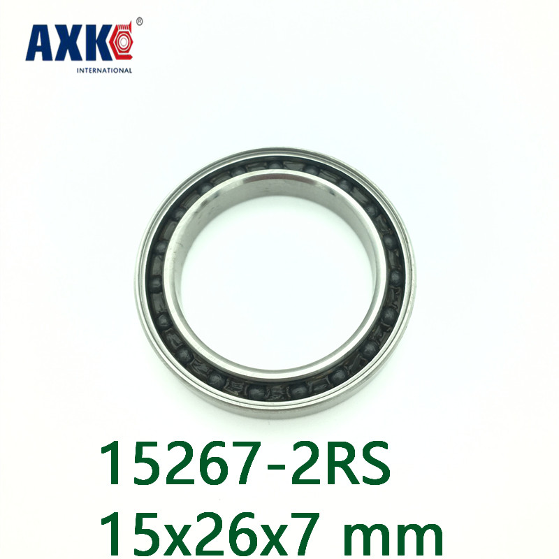 Axk 1 Pc 15267 Hybrid Ceramic Bearing 15x26x7 Mm Abec-1 Bicycle Bottom Brackets Spares 15267rs Si3n4 Ball Bearings 15267-2rs 15267 2rs 15 26 7mm 15267rs si3n4 hybrid ceramic wheel hub bearing