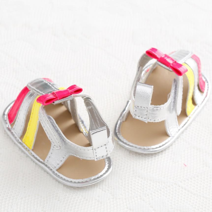 Toddler Girl Crib Shoes Newborn Flower Soft Sole Anti-Slip Baby Sneakers Sandals Kids Sandals Girls