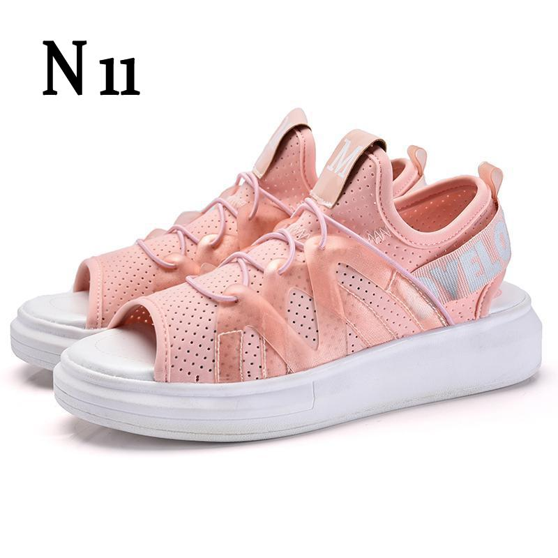 N11 Women's Shoes Summer Wedges Sandals Fashion Lady Tennis Open Toe Slimming Woman Casual Shoes Breathable Platform Sandalias phyanic 2017 gladiator sandals gold silver shoes woman summer platform wedges glitters creepers casual women shoes phy3323