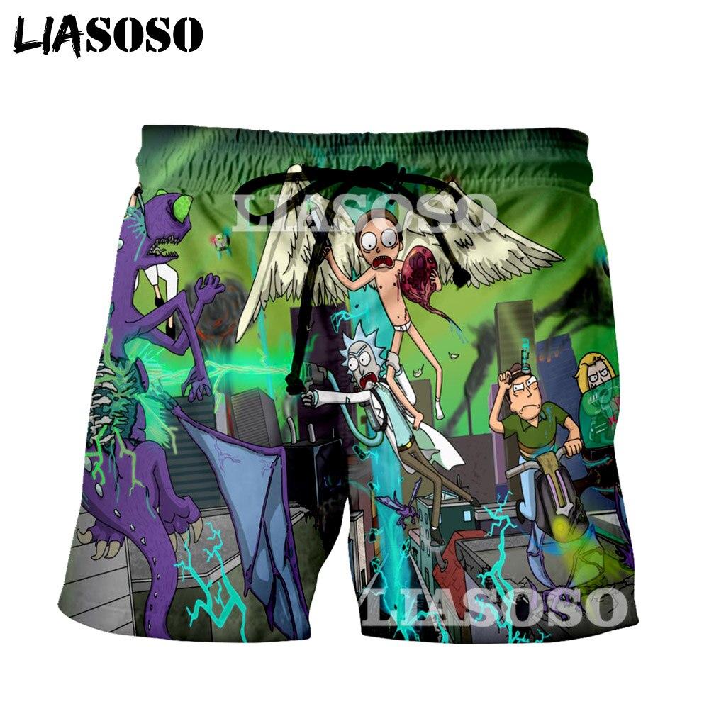 LIASOSO Rick and Morty Mens Summer Casual 3D Shorts for man Print Shorts Summer Tracksuit Cartoon Anime shorts man323