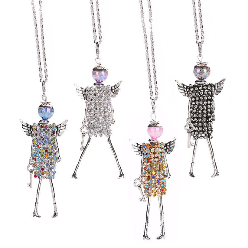 Ylwhjj New Doll Rhinestone Pendant Maxi Necklace Women -2899