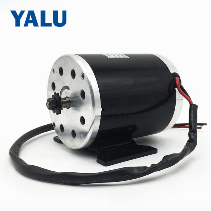 YALU MY1020 500W 24V/36V/48V electric tricycle go-kart minibike E-ATV Ebike Electric Scooter DC brushed motor with Foot