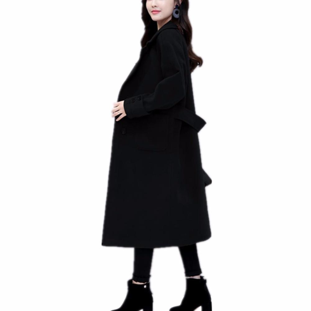 Dames Vintage Manteau marron Colly Lisa Laine Noir Automne Chaud Longues Pour Printemps Cachemire Femelle Femmes 2018 Manches x6vCqv0wnH