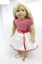 Otarddolls 45 cm kapas badan silikon AMERICAN GIRL DOLLS 18 inci rambut panjang Princess Reborn Bayi boneka Hadiah Terbaik untuk Bayi perempuan