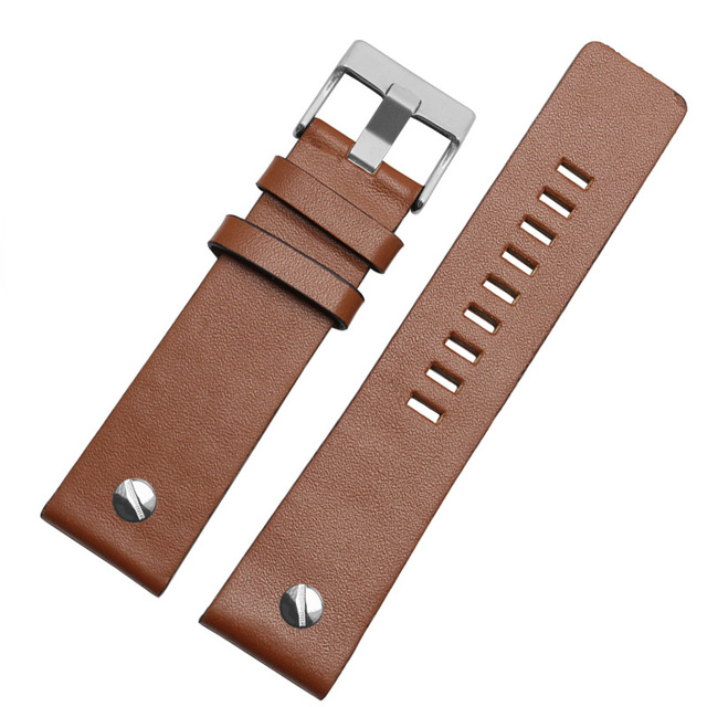 Genuine leather bracelet watchband 22 24 26 28 30mm watch strap with rivet for diesel DZ7406 DZT2009 DZ7413 DZ7257 watch band | Watchbands