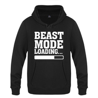Beast Mode Loading Creative Letter Hoodies Men 2018 Men's Pullover Fleece Hooded Sweatshirts