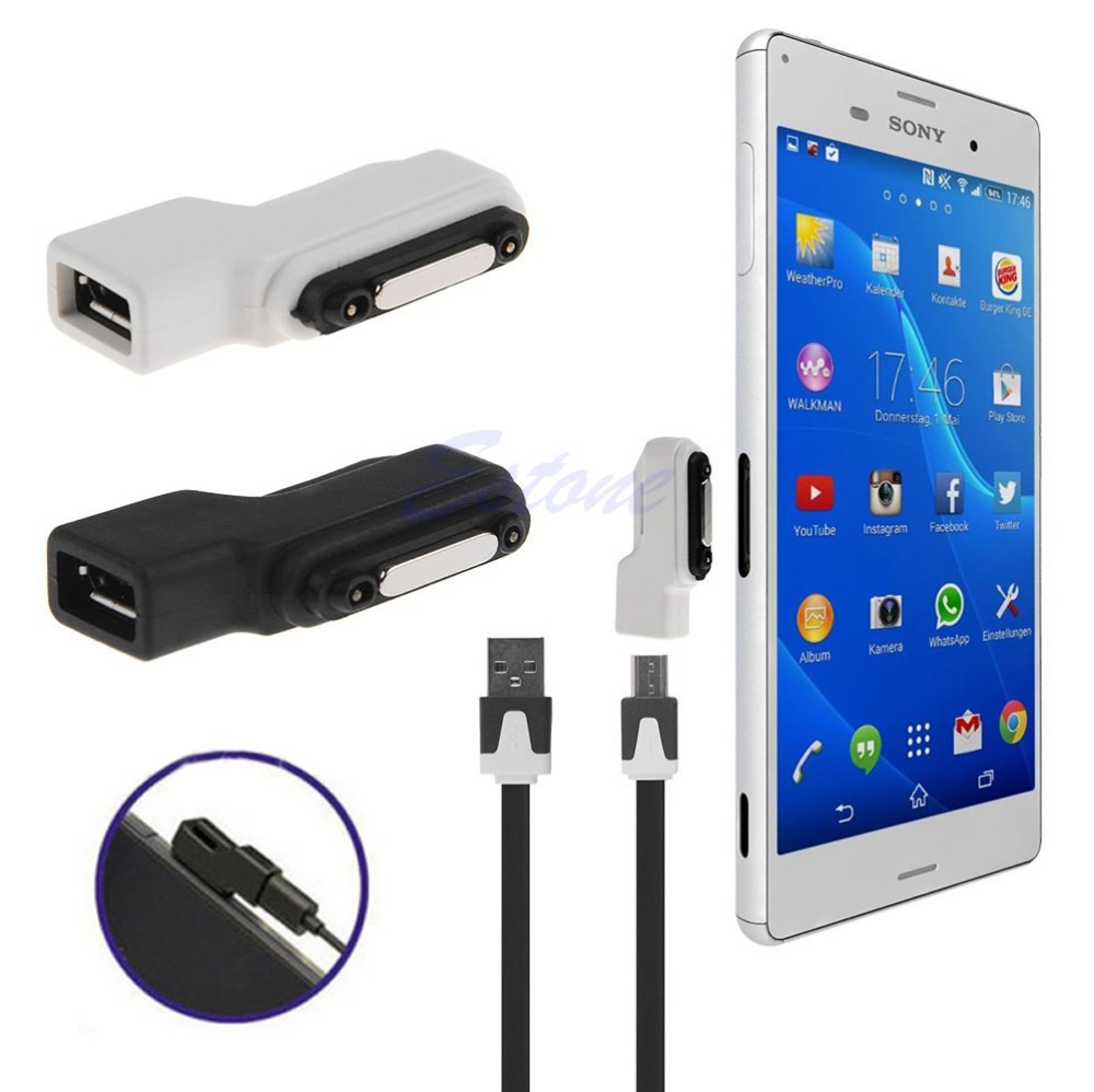 2019 hot sale Magnetic Micro USB Cable Charging Adapter Converter For Sony Xperia Z1 Z2 Z3 New
