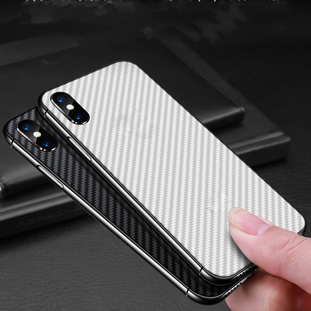 Image 4 - Buyruo Carbon Fiber Soft Back Screen Protector Sticker For apple iPhone XS Max XR Film full cover For iphone X 7 8 6 6S Plus-in Screen Protectors from Consumer Electronics