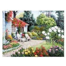 Diy Diamond Painting Garden 5d Square Diamond Mosaic Icon Full Diamond  Embroidery Life Art Wedding Decoration ZP 919