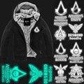 Высокое Качество Толстые Теплые Assasin Creed 3 iii Куртка Зима На Флисовой Подкладке Пальто Assassins Creed Толстовка Свечение Логотип Черный Серый
