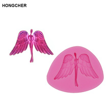 Angel Wings Little Girl Fondant Silicone Mold, Chocolate Cake Dessert Kitchen Baking Tools, Jelly Pudding Cookie Mol