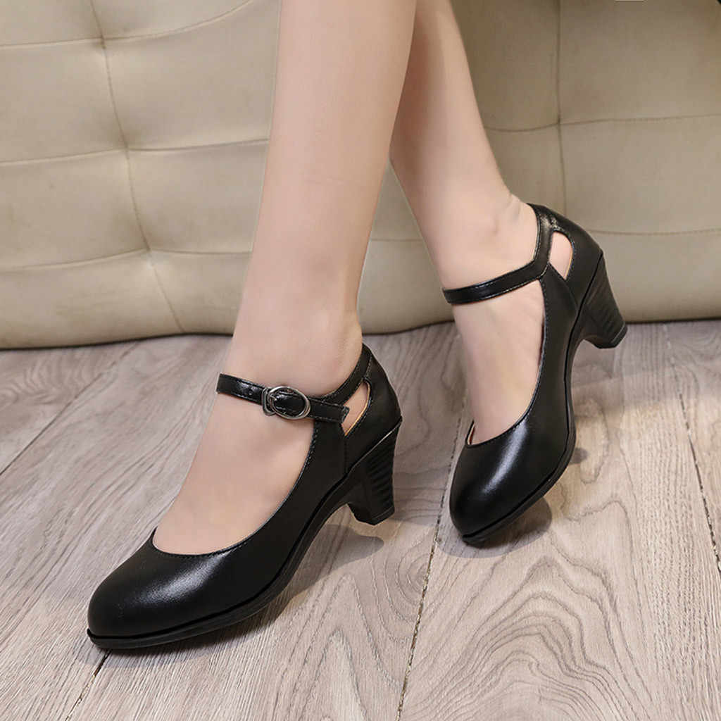YOUYEDIAN wiosna jesień wysokie obcasy buty damskie białe buty ślubne kokardka ze strasem grube szpilki Fashion Party Shoes #35