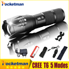 CREE XM L T6 LED 2000LM E17 Aluminum Torches Zoomable Flashlight Torch Lamp For 3XAAA Or