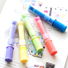 30 pcs/Lot Mini Lipstick color highlighter Fluorescent marker stick pen Candy gel highlighters Office School supplies CB607