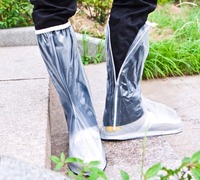 White Rain Snow Zippered Outdoor Protective Gear Rain Long Boots Shoes Cover