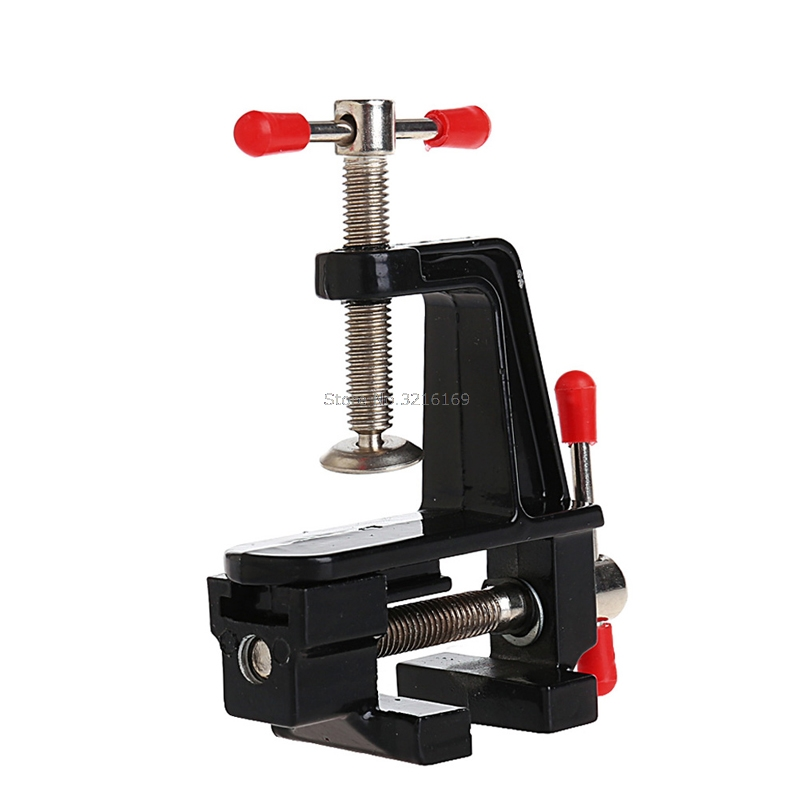 For 3.5 Aluminum Small Jewelers Paste Clip On Bench Vice Table Vise Mini Tool Promotion