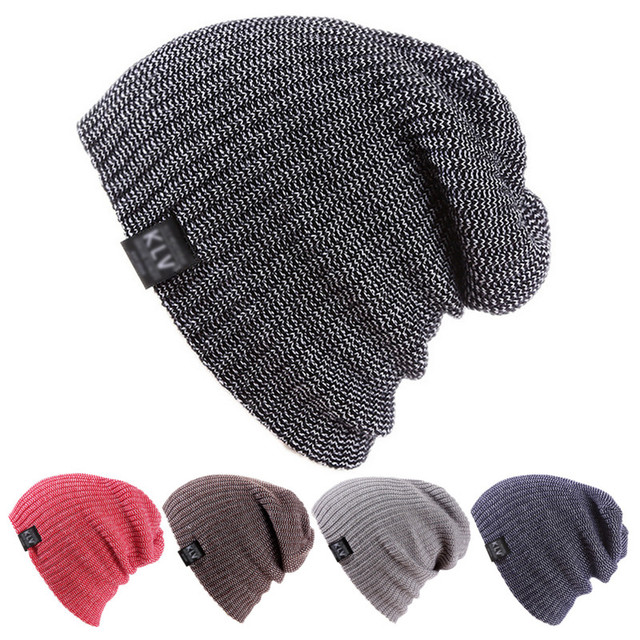 84b7912f21eb1 Fancy Knitted 2018 Winter Unisex Men Women Hat Soft Warm Striped Hats  Bonnet Femme Slouch Oversized Beanie Caps Gorros
