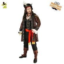Роскошные костюмы для пиратов для мужчин Хэллоуин для вечеринок для косплея