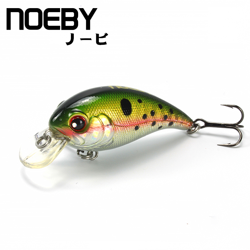 NOEBY 1 Pcs Fishing Lure 45mm/5g 0-0.8m Floating Super Crankbait Lures Fishing Bait VMC Treble Hooks Colorful 3D Eyes NBL 9073 wldslure 1pc 54g minnow sea fishing crankbait bass hard bait tuna lures wobbler trolling lure treble hook